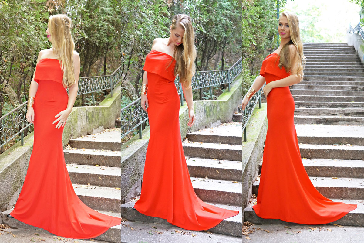 red.dress.sheinside