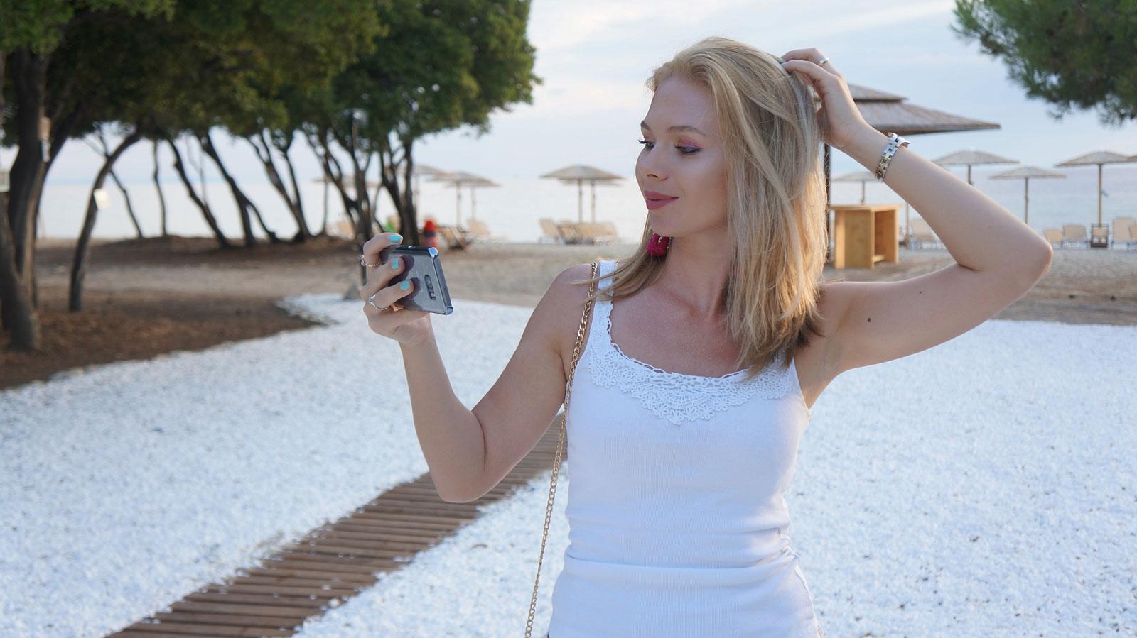 selfie.beach.Thassos
