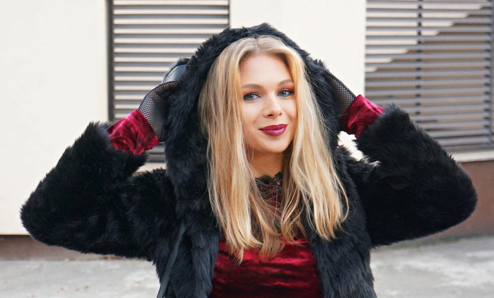 Hoodie Fur Coat